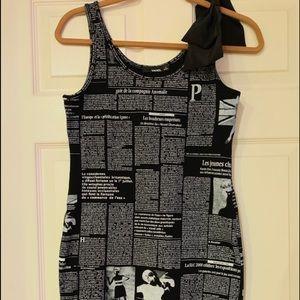 Newspaper detail dress